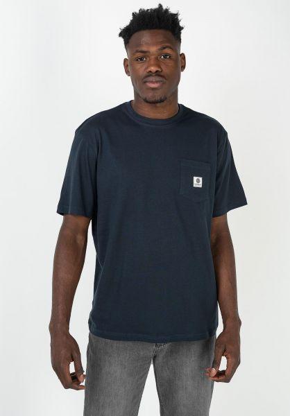 Element T-Shirts Basic Pocket Label eclipsenavy vorderansicht 0398847
