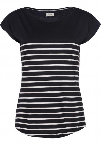 Forvert T-Shirts Newport black-beige Vorderansicht