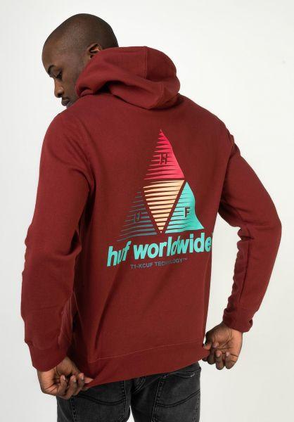 HUF Hoodies Prism TT brick vorderansicht 0445380