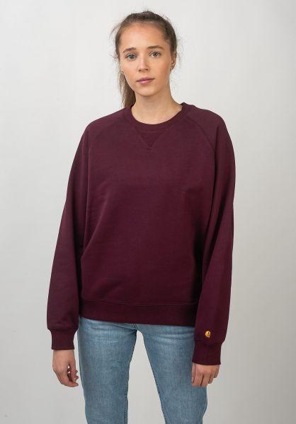 Carhartt WIP Sweatshirts und Pullover W´ Chasy merlot-gold vorderansicht 0422331