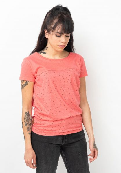 alife and kickin T-Shirts Clarice coral 120 vorderansicht 0322127