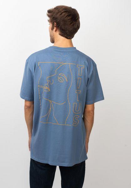 TITUS T-Shirts Keyan-Backprint infinity vorderansicht 0399247