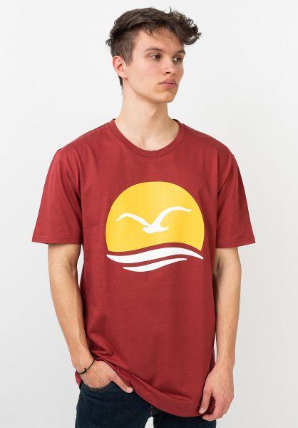 Cleptomanicx T-Shirts Big Mocean rosewood vorderansicht 0320575