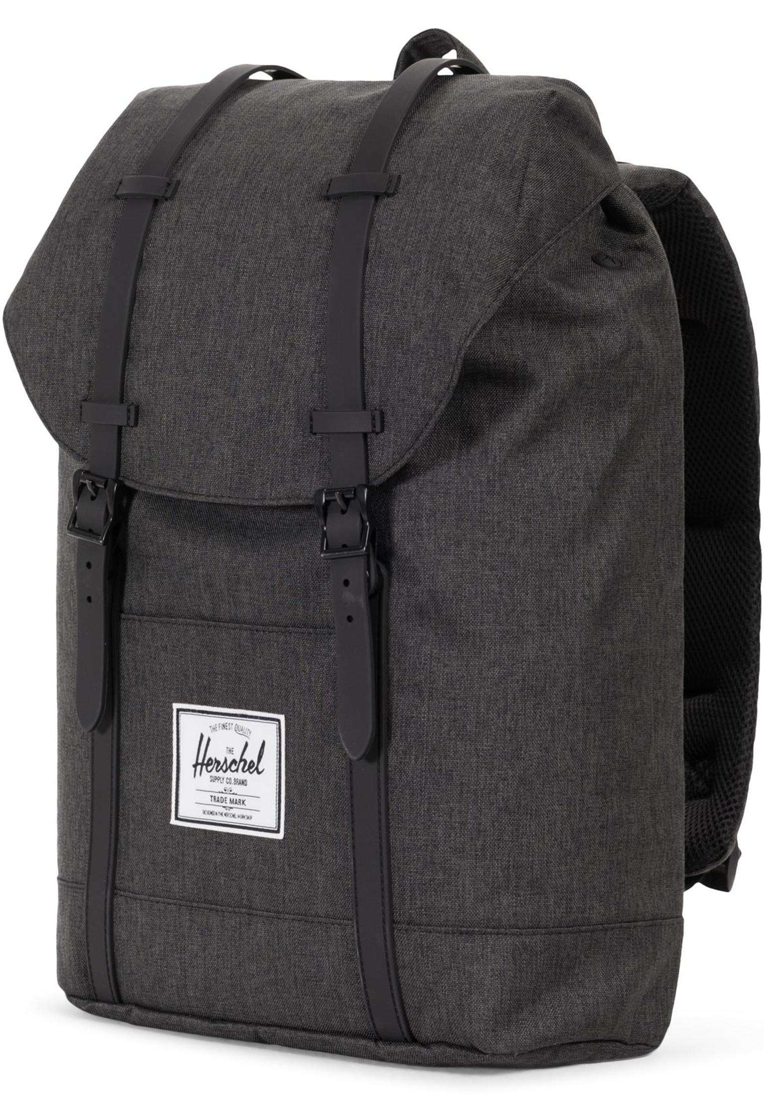 c4abfb24c01f0 Retreat Herschel Backpacks in blackcrosshatch-blackrubber for Men ...