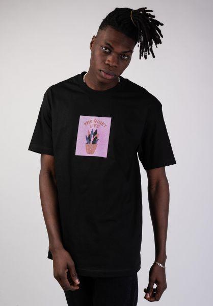 The Quiet Life T-Shirts Yawn Plant black vorderansicht 0399792