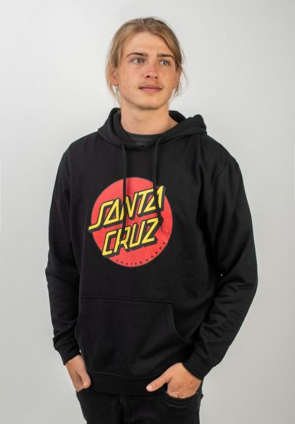 Santa-Cruz Hoodies Classic Dot black vorderansicht 0440121