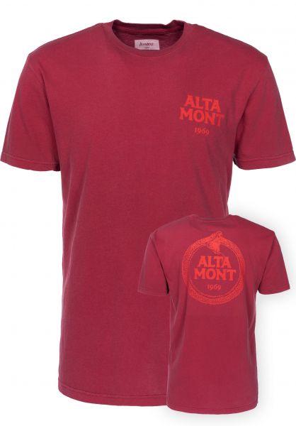 Altamont T-Shirts Snake A deepred Vorderansicht