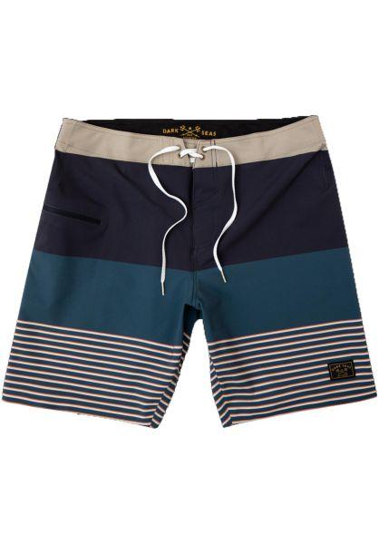 Dark Seas Beachwear Cotide navy-khaki vorderansicht 0205278