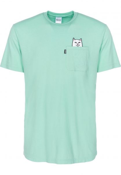 ae29b6ab9f Rip N Dip T-Shirts Lord Nermal Pocket overdyedmint Vorderansicht