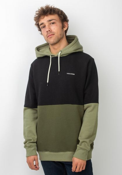 Volcom Hoodies Single Stone DIV military vorderansicht 0445447