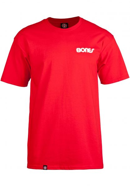 Bones Bearings T-Shirts Text red vorderansicht 0378608