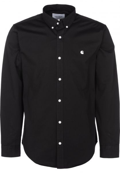 Carhartt WIP Hemden langarm Madison black-wax vorderansicht 0411884