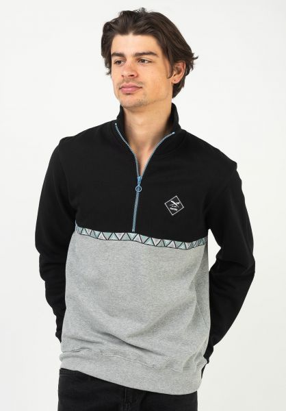 iriedaily Sweatshirts und Pullover Monte Banda Troyer black vorderansicht 0423113