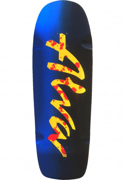 Alva Skateboard Decks Double Diamond black-blue Vorderansicht