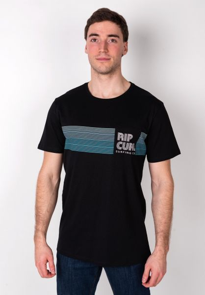 Rip Curl T-Shirts Close Out black vorderansicht 0399969