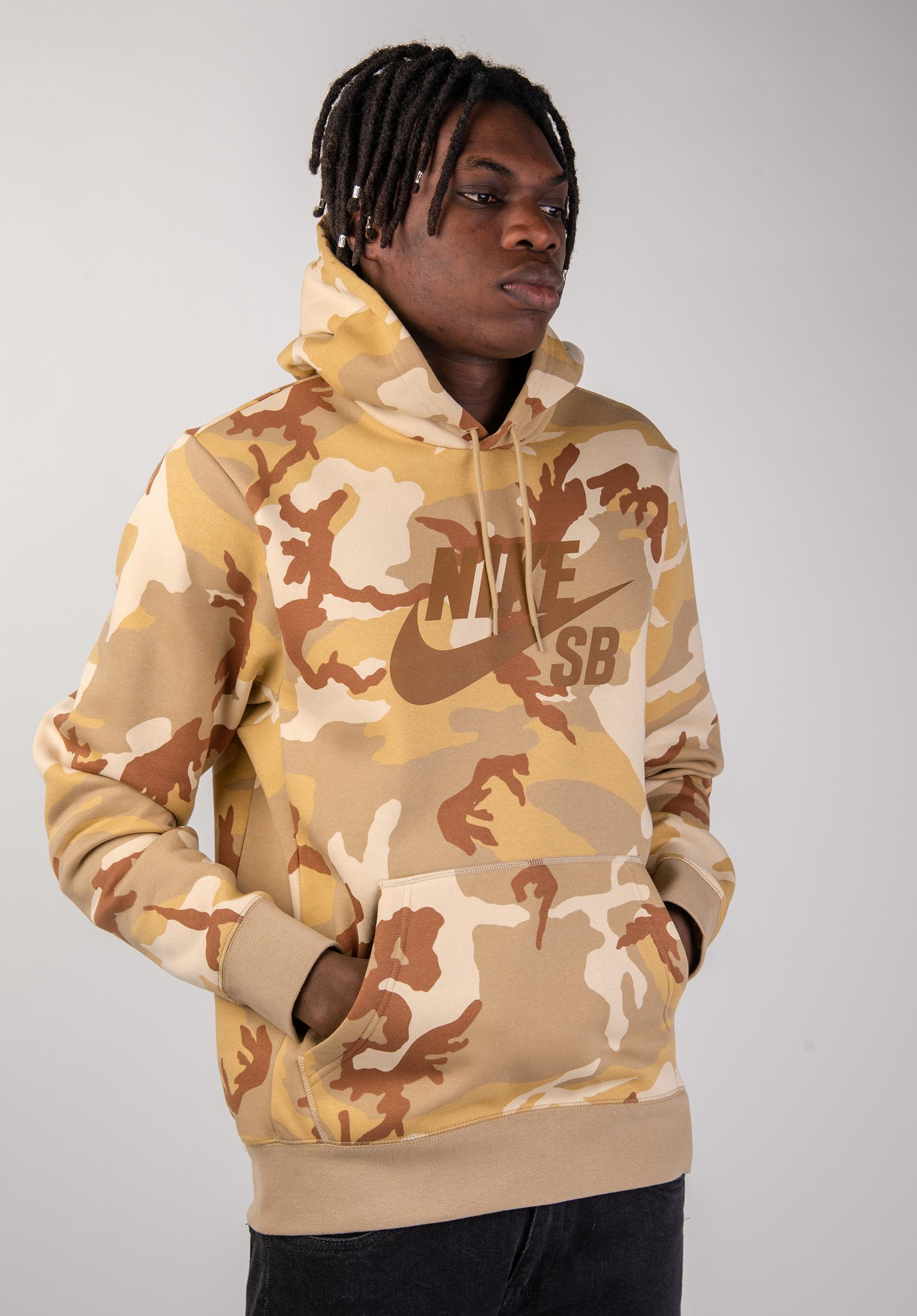 9166371915a4 SB Icon Camo Nike SB Hoodies in deserore-beige for Men