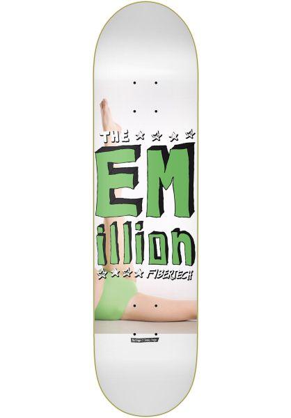 EMillion Skateboard Decks Sketch II Fibertech white-green vorderansicht 0262542