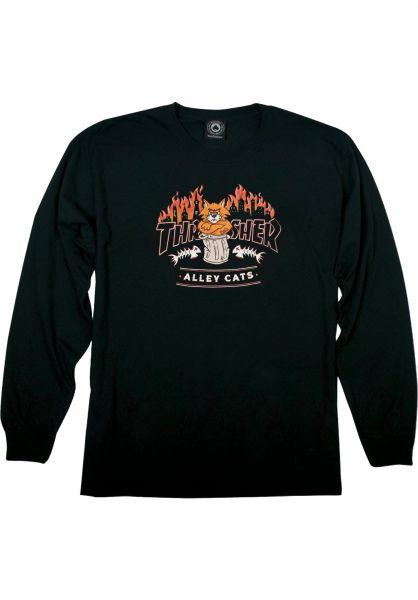 Thrasher Longsleeves Alleycat L/S black vorderansicht 0383985