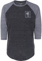 etnies Longsleeves Stack Box Raglan grey-heather Vorderansicht