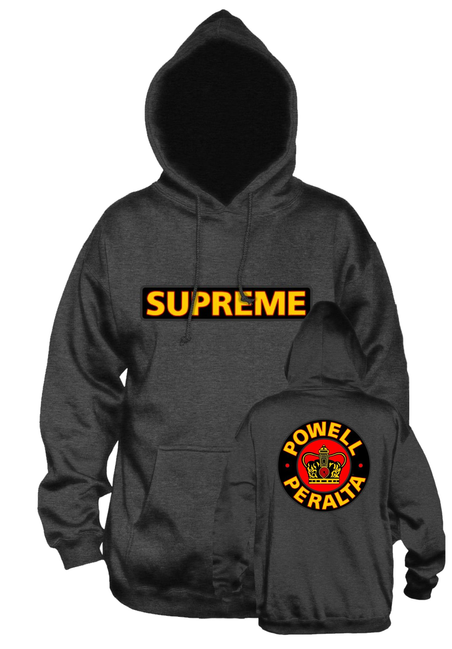 6312e29ec537 Supreme Medium Weight Powell-Peralta Hoodies in gunmetal-grey for Men