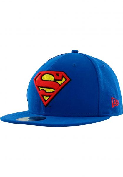 3f8a8055 New Era Caps 59Fifty Charact Basic Superman blue-red-yellow Vorderansicht