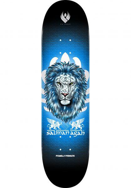 Powell-Peralta Skateboard Decks Flight Pro Shape 245 Agah Lion black-blue vorderansicht 0261555