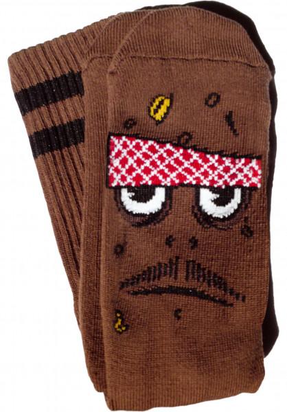 Toy-Machine Socken Poo Poo Head brown Vorderansicht
