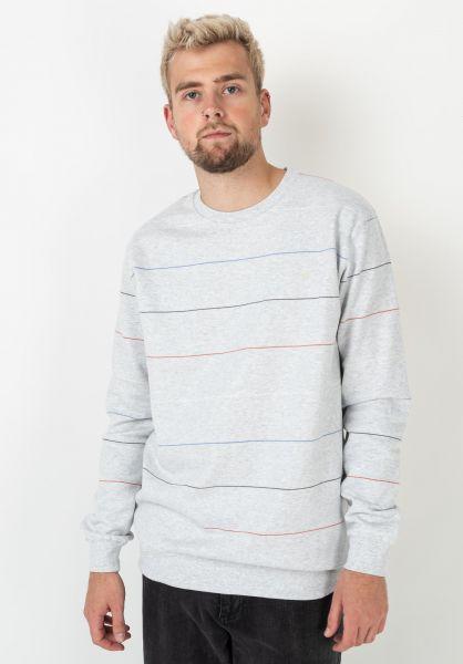 Cleptomanicx Sweatshirts und Pullover Multistripe lightheathergrey vorderansicht 0422966
