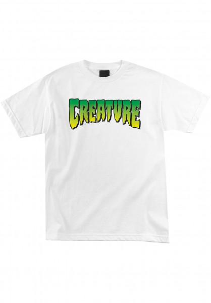 Creature T-Shirts Logo white Vorderansicht