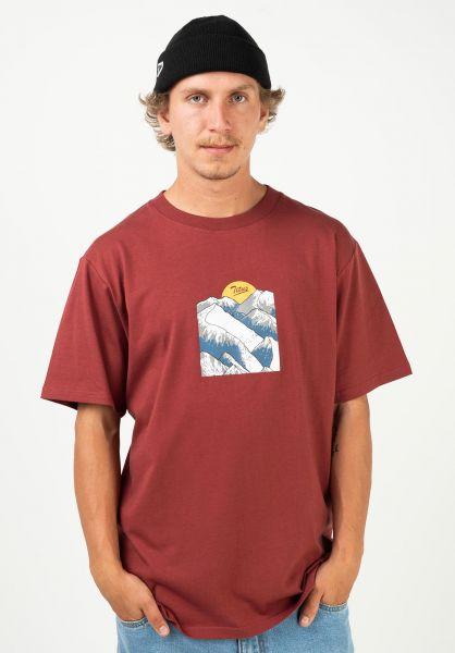 TITUS T-Shirts Genrich red-ochre vorderansicht 0320913