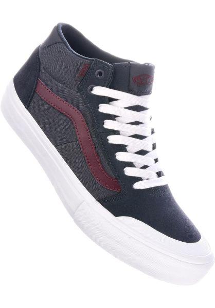 Vans Alle Schuhe Style 112 Mid Pro ebony-portroyale vorderansicht 0604273