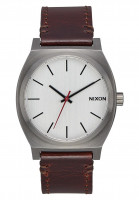 Nixon Uhren The Time Teller gunmetal-silver-darkbrown Vorderansicht