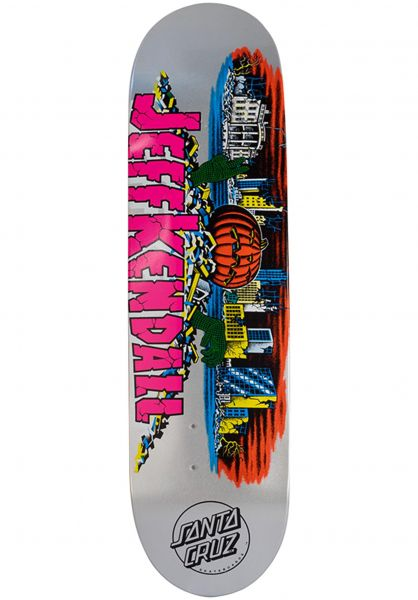 Santa-Cruz Skateboard Decks Kendall Pumpkin From The Vault silver vorderansicht 0262739
