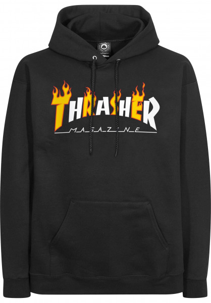 Thrasher Hoodies Flame Mag black Vorderansicht