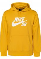 Nike SB Hoodies SB Icon yellowochre-white Vorderansicht