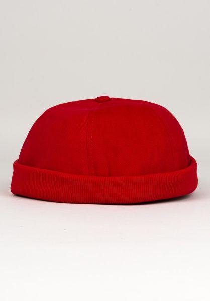 Uprock Mützen Docker Cap red vorderansicht 0566619