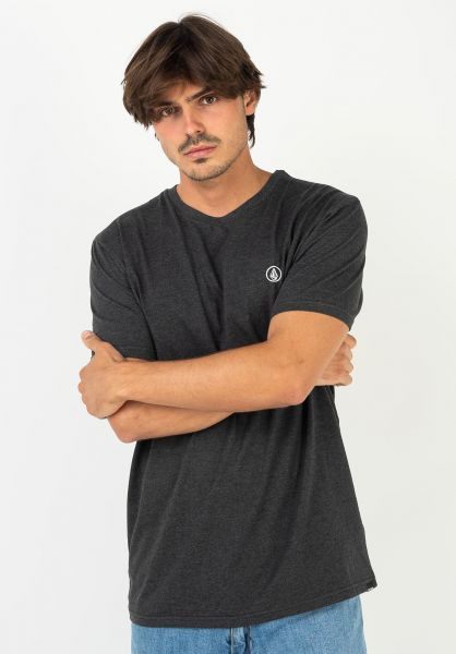 Volcom T-Shirts Circle Blanks HTH heatherblack vorderansicht 0322535