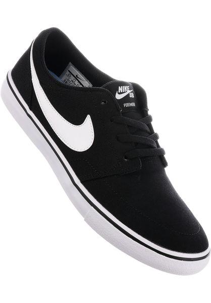 Nike SB Alle Schuhe Solarsoft Portmore II CNVS black-white vorderansicht 0604183