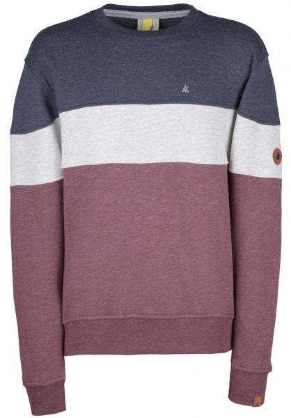 alife and kickin Sweatshirts und Pullover Vince burgundy vorderansicht 0422677
