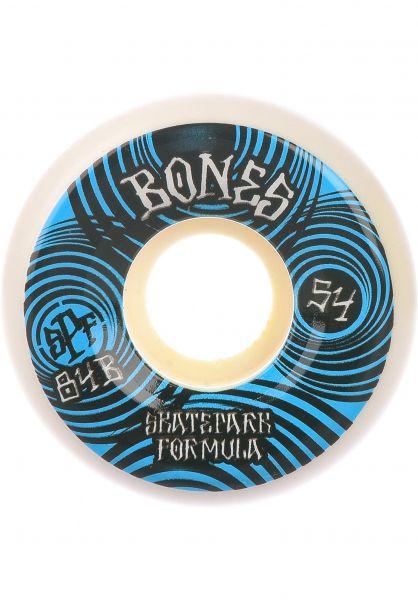 Bones Wheels Rollen SPF Ripples 84B P5 Sidecut white vorderansicht 0135061