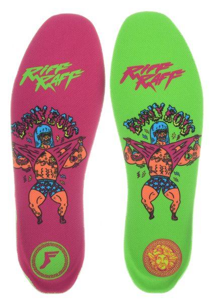 Footprint Insoles Einlegesohlen King Foam Elite Riff Raff Burly Boys Small pink-green vorderansicht 0249112