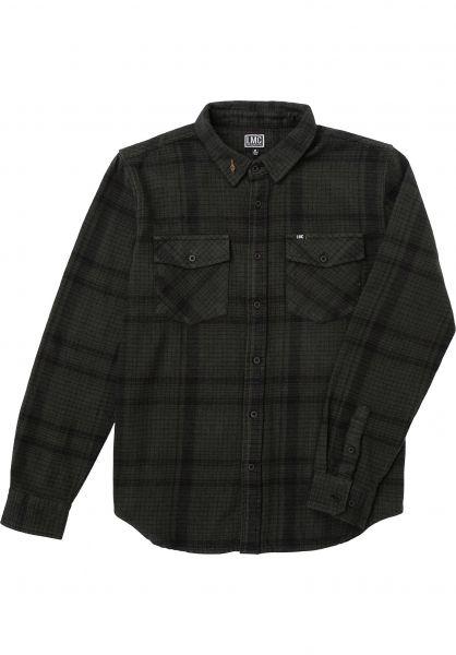 Loser-Machine Hemden langarm Rockwood black-green vorderansicht 0412112