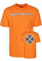 Independent T-Shirts Bar Cross orange vorderansicht 0366763