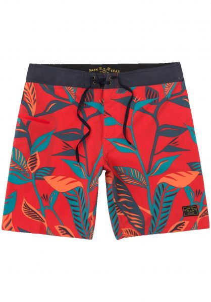 Dark Seas Beachwear Eddy red vorderansicht 0205279