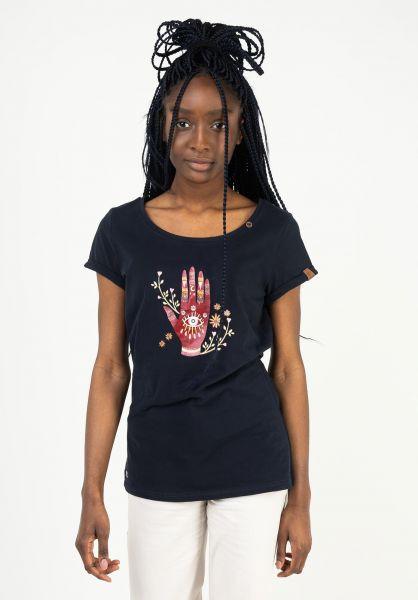 Ragwear T-Shirts Florah navy 121 vorderansicht 0323001