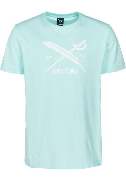 iriedaily T-Shirts Daily Flag mint vorderansicht 0391517