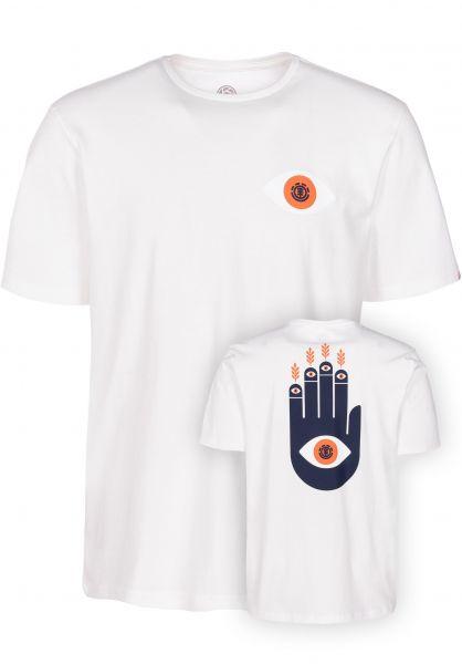 Element T-Shirts Palm bonewhite vorderansicht 0399940