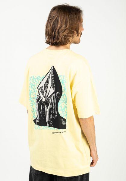 Volcom T-Shirts Stone Face LSE dawnyellow vorderansicht 0323526