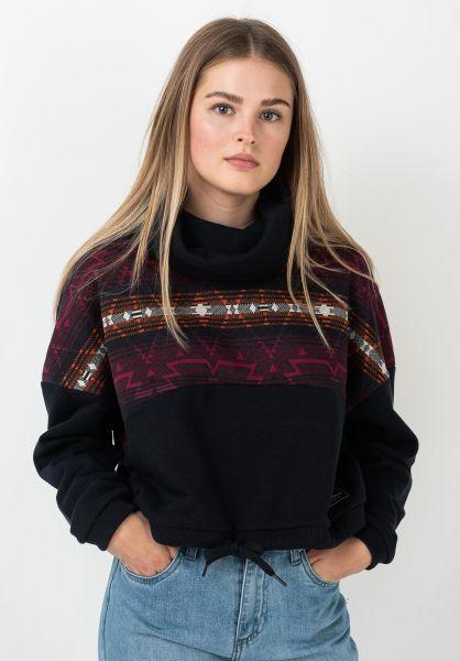 iriedaily Sweatshirts und Pullover Sekani Mock Turtle navy vorderansicht 0422980