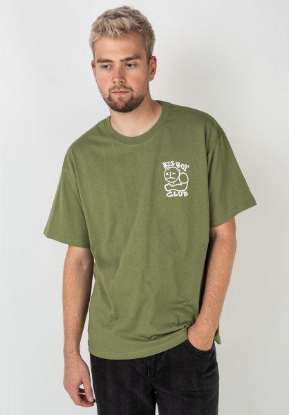 Polar Skate Co T-Shirts Big Boy Club khaki vorderansicht 0322430